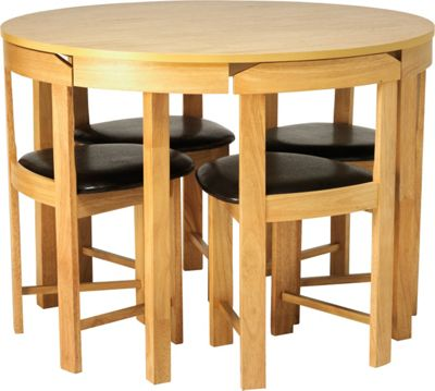 Homebase hygena alena oak circular dining table and for Top rated dining tables