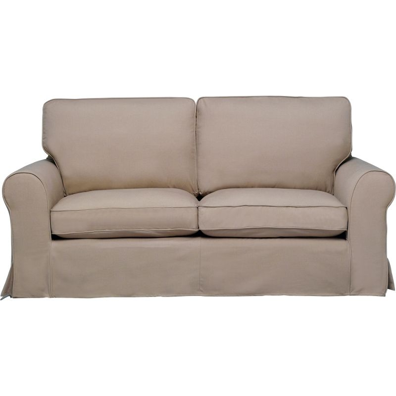 Bessie Sofa With Loose Chair Cover Taupe