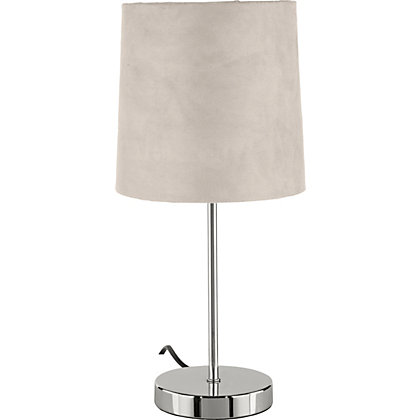 Image for Touch Faux Suede Table Lamp - Taupe - 40cm from StoreName