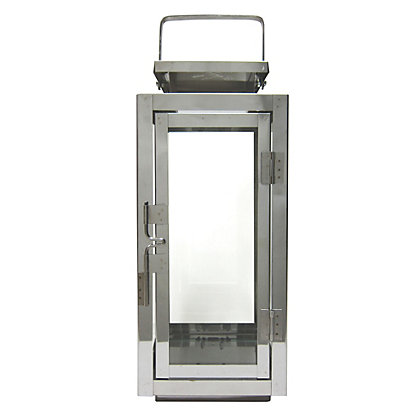 Image for Stainless Steel Lantern - Medium from StoreName