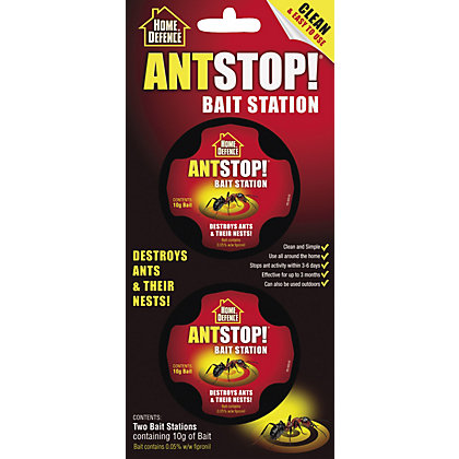 Image for Home Defence Ant Stop! Two Bait Stations Ant Traps from StoreName