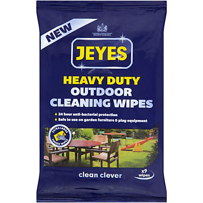 Image for Jeyes Outdoor Cleaning Wipes - Pack of 9 from StoreName