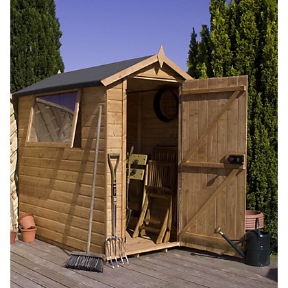 Image for Mercia Premium Shiplap Apex Wooden Shed - 7ft x 5ft from StoreName