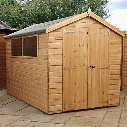 Image for Mercia Premium Shiplap Apex Wooden Shed - 10ft x 6ft from StoreName