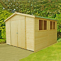 Homewood Wooden Garden Workshop - 10ft x 10ft