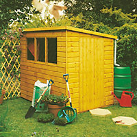 Homewood Caldey Pent Wooden Shed - 8ft x 6ft