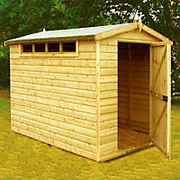 Homewood Heavy Framed Security Apex Wooden Shed - 10ft x 8ft