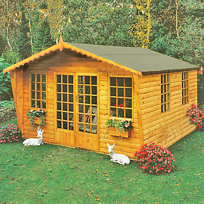 Image for Homewood Beaulieu Wooden Summer House - 11ft x 13ft 7in from StoreName