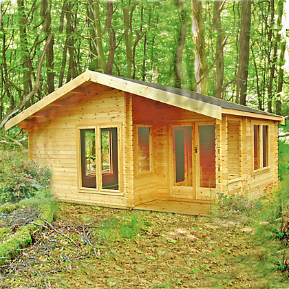 Image for Homewood New Forest Wooden Log Cabin - 20ft 2in x 14ft 3in from StoreName