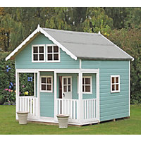 Homewood Lodge Wooden Playhouse - 8x9ft