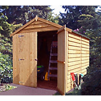 Homewood Overlap Apex Double Door Wooden Shed - 6ft x 8ft