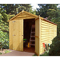 Homewood Overlap Apex Double Door Wooden Shed - 6ft x 12ft
