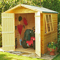 Homewood Alderney Wooden Shiplap Apex Shed - 7ft x 7ft