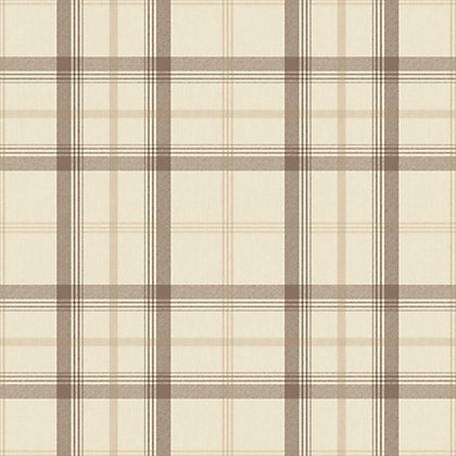 Image for Cambridge Plaid Wallpaper - Natural from StoreName
