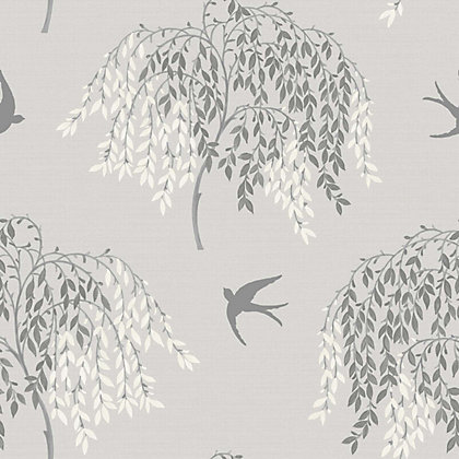 Image for Willow Song Wallpaper - Grey from StoreName