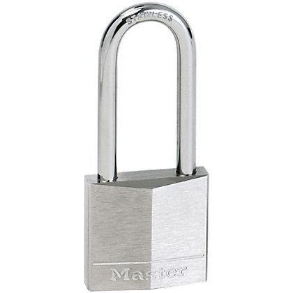 Image for Master Lock Nickel Plated Long Shackle Padlock - 40mm from StoreName