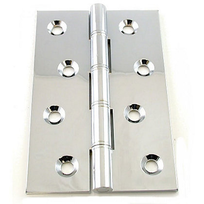 Image for Chrome Washered Hinge - 102mm - Pack of 2 from StoreName