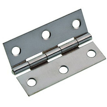 Image for Chrome Pltd. Steel Butt Hinge - 76mm - Pack of 10 from StoreName