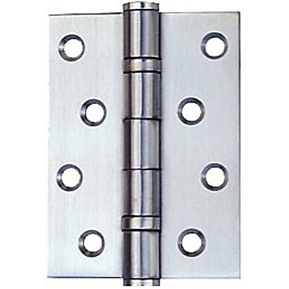 Image for Ball Bearing Hinge Satin stainless steel - 76mm - Pack of 2 from StoreName
