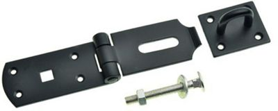 Heavy Duty Hasp and Staple Black - 125mm