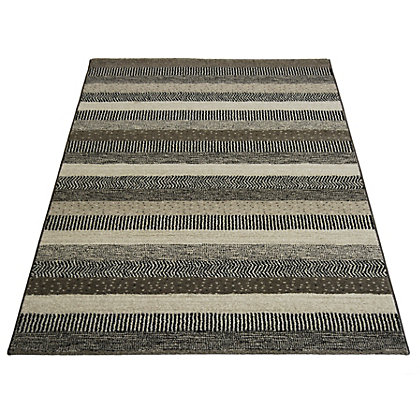 Image for Eternity Stripe Grey Rug - 160 x 230cm from StoreName