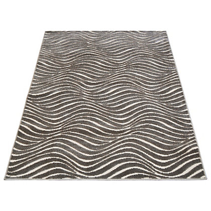 Image for Reflect Wave Ivory & Grey Rug - 80 x 150cm from StoreName