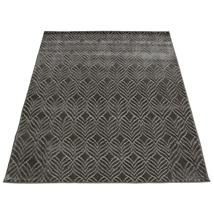Image for Reflect Leaf Grey Rug - 80 x 150cm from StoreName