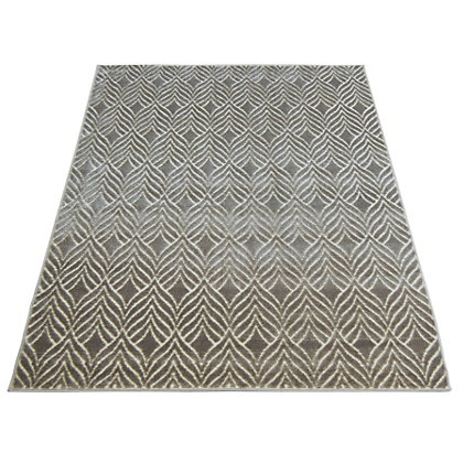 Image for Reflect Leaf Ivory Grey Rug - 160 x 230cm from StoreName
