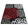Spirit Damask Black Rug - 80 x 150cm