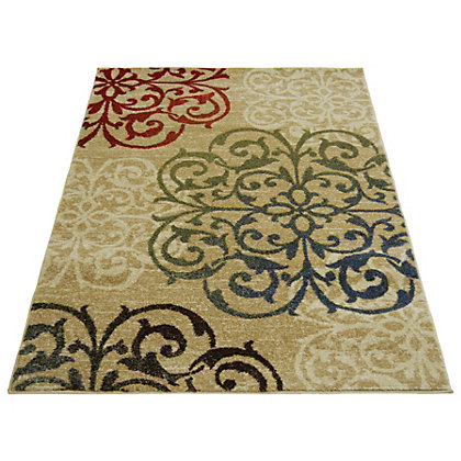 Image for Spirit Damask Natural Rug - 120 x 170cm from StoreName