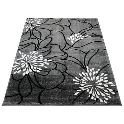 Image for Spirit Floral Grey Rug - 120 x 170cm from StoreName