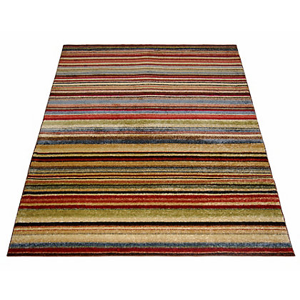 Image for Spirit Stripe Multicoloured Rug - 120 x 170cm from StoreName