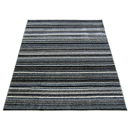 Image for Spirit Stripe Grey Rug - 120 x 170cm from StoreName