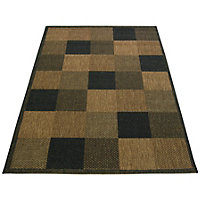 Essence Block Chocolate Rug - 80 x 150cm