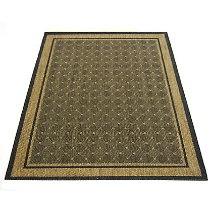 Image for Essence Border Chocolate Rug - 120 x 170cm from StoreName