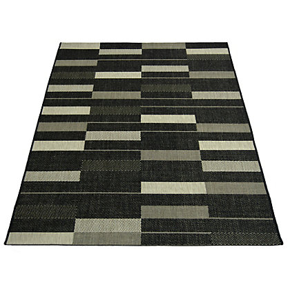 Image for County Parque Black Rug - 120 x 170cm from StoreName