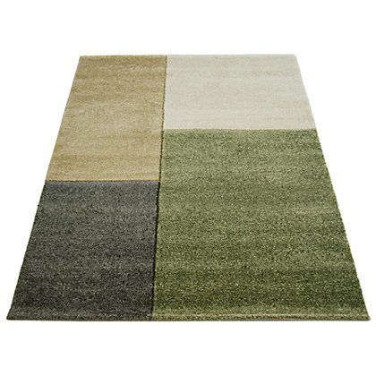 Image for Matisse Blocks Green Rug - 80 x 150cm from StoreName