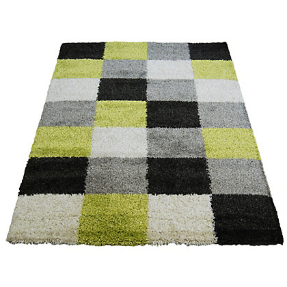 Image for Imperial Blocks Green Rug - 80 x 150cm from StoreName