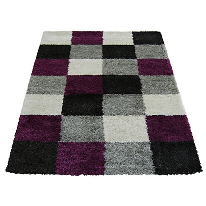 Image for Imperial Blocks Purple Rug - 80 x 150cm from StoreName