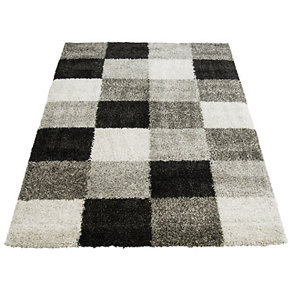 Image for Imperial Blocks Grey Rug - 80 x 150cm from StoreName