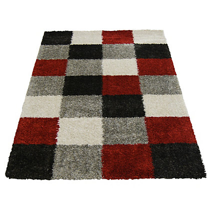 Image for Imperial Blocks Red Rug - 160 x 230cm from StoreName