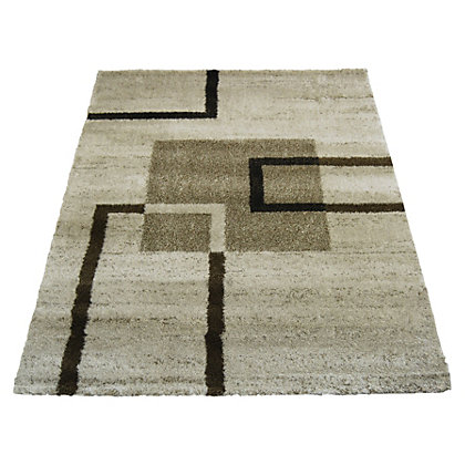 Image for Blocks Abstract Natural Rug - 80 x 150cm from StoreName