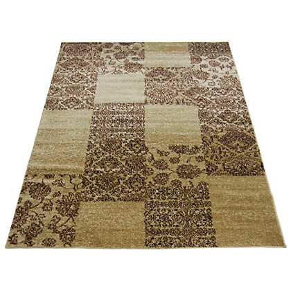 Image for Spirit Patchwork Natural Rug - 80 x 150cm from StoreName