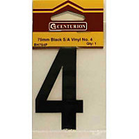 House Number Plate - Black - 4