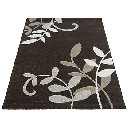 Image for Monte Carlo Leaf Trail Chocolate Rug - 80 x 150cm from StoreName