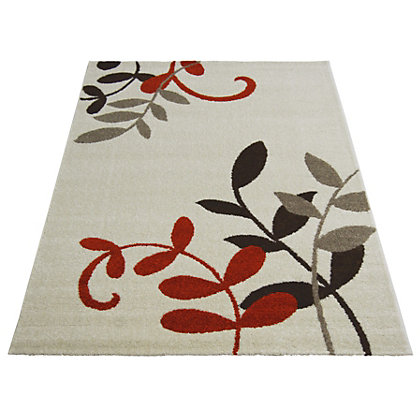 Image for Monte Carlo Leaf Natural Terracotta Rug - 80 x 150cm from StoreName