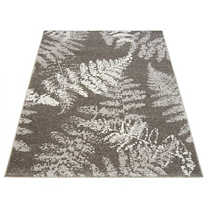 Image for Monte Carlo Fern Grey Rug - 80 x 150cm from StoreName