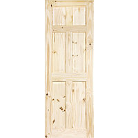Colonial 6 Panel Knotty Pine Internal Door - 762mm Wide