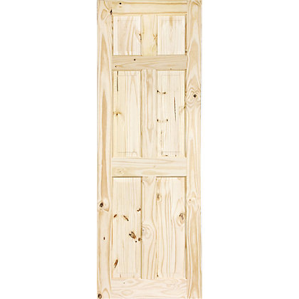 Image for Colonial 6 Panel Knotty Pine Internal Door - 762mm Wide from StoreName