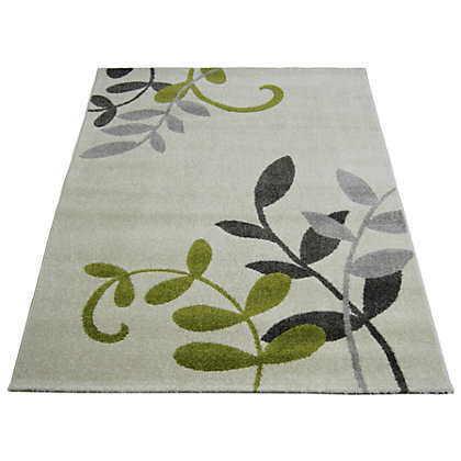 Image for Monte Carlo Leaf Natural Green Rug - 160 x 230cm from StoreName